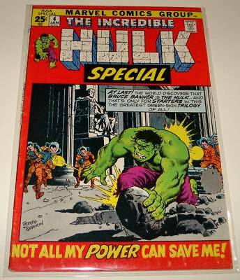 The INCREDIBLE HULK SPECIAL (Annual) # 4 Marvel Comic (Jan 1972)  VG/FN