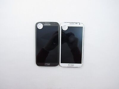 Lot o 2 Parts & Repair Samsung Galaxy Note 2 I605 Verizon Check IMEI 5PR 606