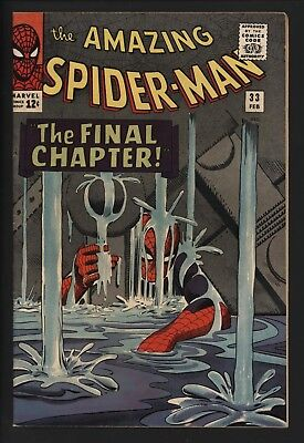 Amazing Spider-Man #33 Steve Ditko Art. The Famous Four Page Sequence Inside!