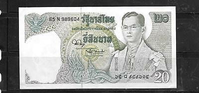 THAILAND THAI #84a UNUSED 1981 20 BAHT OLD BANKNOTE PAPER MONEY CURRENCY  NOTE