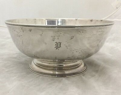 Sterling Silver Tiffany & Co. Ephraim Brasher Footed Bowl Clearwater Collection