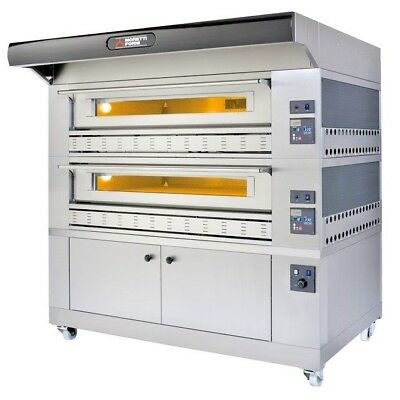 Moretti Forni Double Stack Pizza Ovens GAS DECK OVENS P110G B2 Pizzeria ITALY