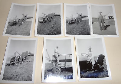 Lot Of Original 1953 Farm Photos - Ford 8N Or 9N Tractor-Allis Chalmers Combine