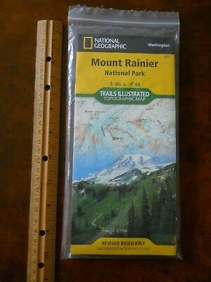 NATIONAL GEOGRAPHIC MAP #217 MOUNT RANIER NATIONAL PARK NEW