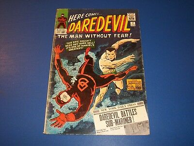 Daredevil #7 Silver Age 1st Red Costume Namor Huge Key Wow