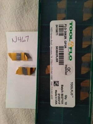 10 Pc. Toolflo Flg-3062R Gp3R Top-Notch Coated Carbide Inserts Ng-3062R (N467)