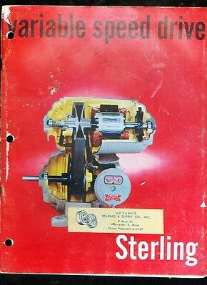 """1960's Sterling  Variable Speed Drive"""" vintage catalog"""