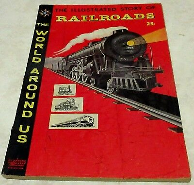 Classics Illustrated World Around Us 4: Railroads (VG/FN 5.0) 40% off Guide!