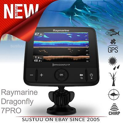 "Raymarine Dragonfly 7PRO-7"" LCD Fish Finder│Sonar│Dual-Channel CHIRP CPT-DVS│GPS"