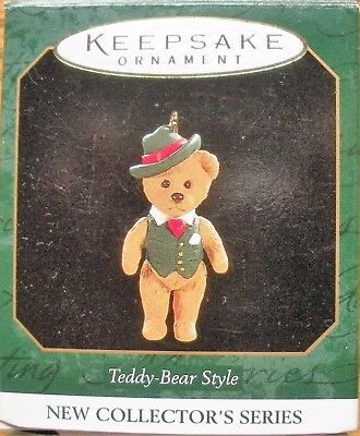 Hallmark 1997 Miniature Ornament - Teddy-Bear Style - 1st in Series - NEW