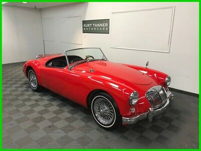 Mg Mga 4-Speed. 60-Spoke Chrome Wires. Luggage Rack 1958 Mga 1500 Roadster. Nice Looking Texas Car. Older Resto Running And Driving