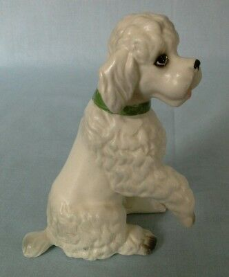 Vintage Lefton Japan Porcelain Ceramic Pottery Lovely Poodle Dog Figurine