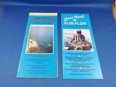 Come North To Flin Flon Manitoba Canada Advertising Brochures Lot 2 Trout Fish