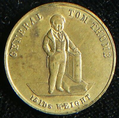 General Tom Thumb Token PT Barnum Circus Circa 1846-52 *About XF* Looks Great