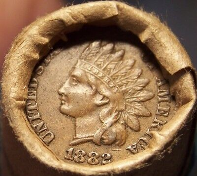 1882 Indian/tail Indian Head Great End Coins Old Roll As Shown In Picture #8902