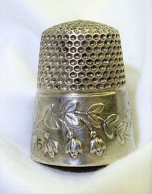 Antique Sterling Silver Floral spray Not marked