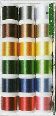 Madeira Rayon No 40 Machine Embroidery Thread Gift Box  Assorted Colours (Mad...