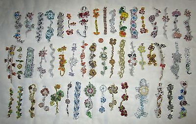 VERY RARE LOT Antique Vintage Sari TRIM LACE EDGING RIBBON 30 Pcs APPLIQUES DOLL