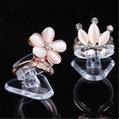 5pcs Transparent Ring Show Plastic Display Jewelry Holder Stand Jewelry Supplies
