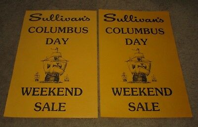 Sullivan's Department Store-Liberty, Ny-Catskills-Columbus Day #2--Set Of Signs