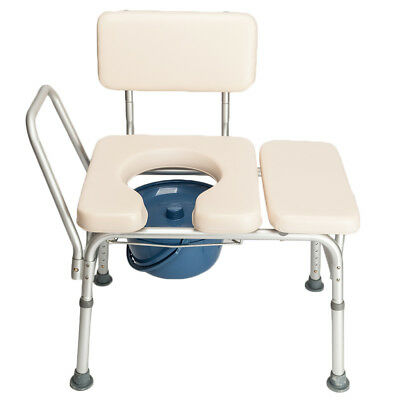 Portable Bedside Toilet Chair Shower Commode Seat Bathroom Potty Stool Adult