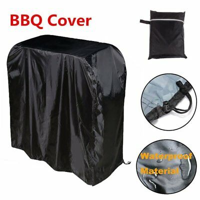 BBQ Grill Cover 4 Sizes Black Waterproof Heavy Duty Outdoor Barbecue Protector 0
