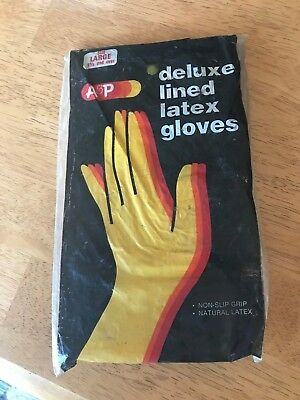 A & P Supermarket Atlantic & Pacific Product Deluxe Lined Latex Gloves Newinbag