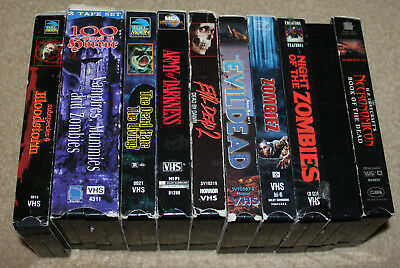 Lot 11 Horror VHS - Necronomicon + Bloodstorm + Evil Dead + Night Of The Zombies