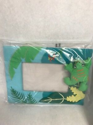 Padded FROG picture frame  Unused in package childs BABY