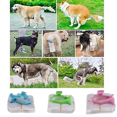 Dog Poop Bag Clip on Tail Pet Waste Holder Clamp Clip Picker with 10pcs Wate Bag