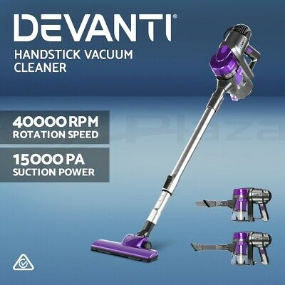 Devanti Electric Stick Vacuum Cleaner Handheld Handstick Vac Bagless Purple