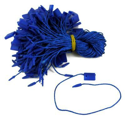 "100 x 7"" Hang Tag Tags Nylon String Snap Lock Pin Loop Fastener Hook Tie R Blue"
