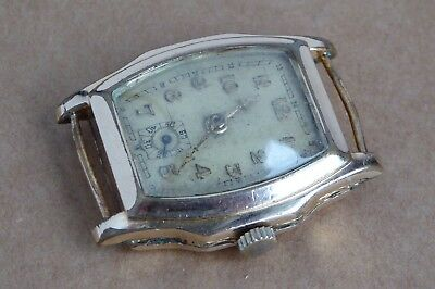 Gents gold plate watch, RW stamp, working, 26mm case, fixed lugs.
