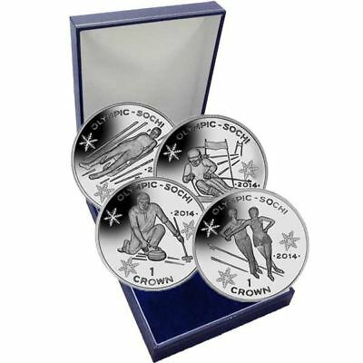 Isle of Man 2013 Winter Olympic Proof Silver 4 Coin Set