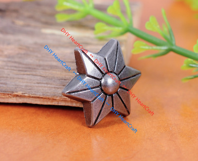 50x Star Flower Rapid Rivet Stud Set For Bag Shoe Clothing Leathercraft Conchos