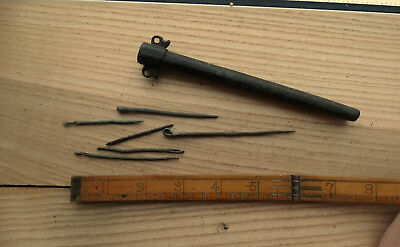 Extremely rare Viking needle bar with sewing needles. ca 800-1000 century AD.