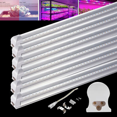 6X18W T8 120cm LED Pflanzenlampe Tube voll spektrum Röhre Grow Light Transparent