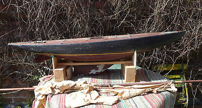 Rare Large English Wood Pond Yacht Possibly By W J Daniels Early 20Th C.