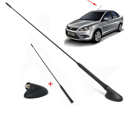 Roof AM/FM Antenna Aerial Mast + Base Kit For Ford Focus 2000-2007 XS8Z18919AA