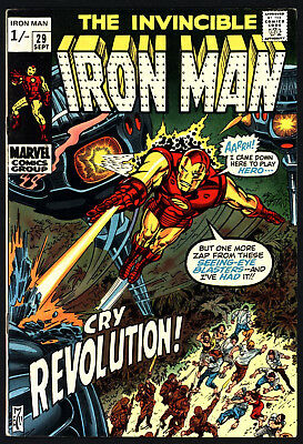 Iron Man #29 Sept 1970. Don Heck Art, Great Value, Lovely White Pages!