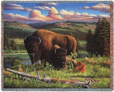 Throw Tapestry Afghan - Buffalo Nation 4753