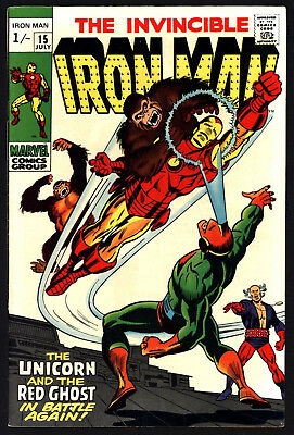Iron Man #15 July 1969. Very Tight Structure, Glossy Cover, Great Copy!