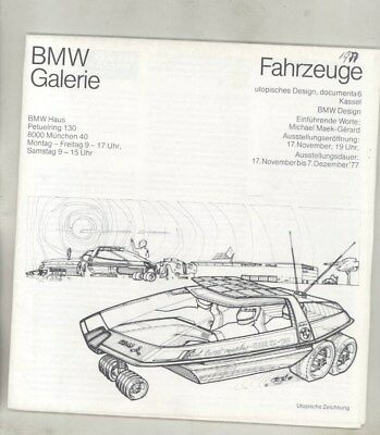 1977 BMW Turbo Concept M1 Art Car at LeMans Brochure Poster German wz2003