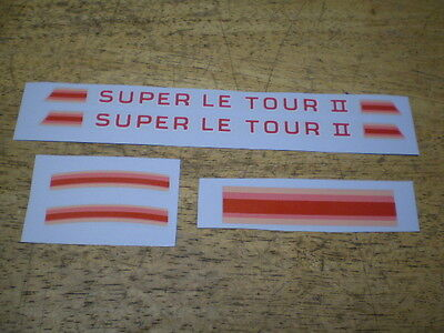 Vintage Schwinn Approved Super Le Tour II Bicycle Decal Set