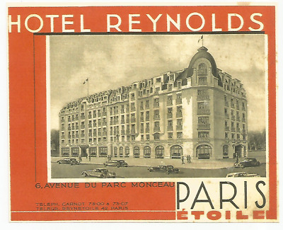 HOTEL REYNOLDS luggage DECO label (PARIS)