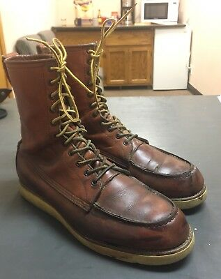 VTG USA MADE Red Wing Irish Setter 877 Crepe Sole Hunting Hiking Boots 10.5 C VG