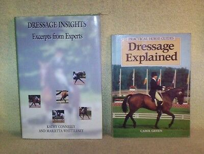 2 Diff Books on DRESSAGE Excerpts from Experts & Explained C. Green & Connelly