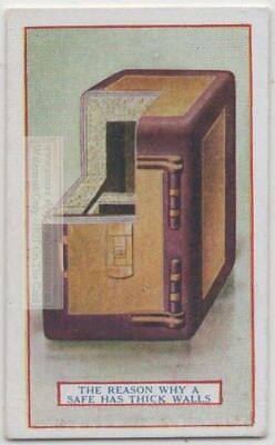 Antique Safe Construction Fire-Proofing Dual Wall 90+  Y/O Trade Ad Card