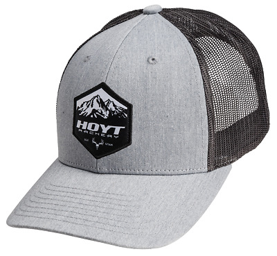 "@NEW@ 2018 Team Hoyt Archery ""Ridgeline 115"" Grey Compound Bow Cap/Hat"