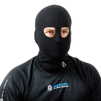 Oxford 100% Cotton Motorcycle Motorbike Head Helmet Balaclava - Twin Eyes